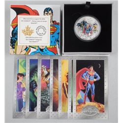 Warner Bros/DC RCM Issue: 2016 $20.00 Fine Silver Coin 'The Trinity' with Rare Superman Cards