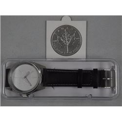 RCM Maple Leaf Watch - with 2013 .9999 Fine Silver $5.00 Maple Leaf Coin