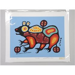 Christian Morrisseau (1969-) 'All of the Colours' Collection 'Serigraphic' 'Bear Walker' Signed in C