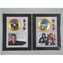 2x Gold CD - and 3 Guitar Pick Displays. 11x14 unframed (ATTN: 2 Times the bid price)