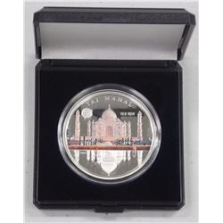 New Wonders of the World 925 Silver Limited Edition Proof Coin - 'Taj Mahal' - w/ COA.
