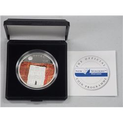 New Wonders of the World 925 Silver Limited Edition Proof Coin - 'Petra' - w/ COA.