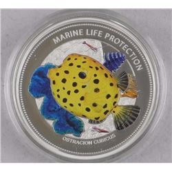 Marine Life Protection 'Ostracion and Cubicus' 2014 - $5.00 925 Silver LE 1500