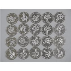20x 1983 Canada Proof Silver Dollars - World University Games - Dealer Tube x 20 (ATTN: 20 Times the