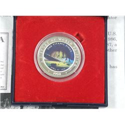 The Sinking of the Titanic Story Card and Coin with Colour