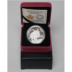 RCM - 2014 'Dinosaur' Coin $20.00 LE with C.O.A.