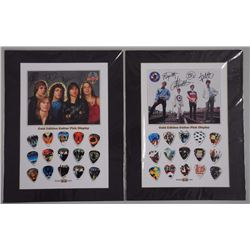 2x Gold edition Guitar Pick Collections 'The Who' and 'Journey' 11x14 (ATTN: 2 Times the bid price)