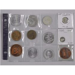 12x estate - Mixed Numismatic, Coins, Tokens, Silver etc (ATTN: 12 Times the bid price)