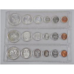 3x Mint Coin Sets - Silver (1962-1964-1967) 3.3 ASW (ATTN: 3 Times the bid price)