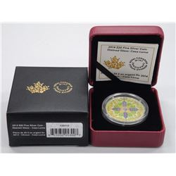 2014- $20.00 .9999 Fine Silver Coin 'Stained Glass - Casa Loma' (SOR) LE with C.O.A.