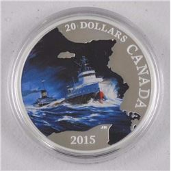 2015 - RCM $20.00 S.S. Edmund Fitzgerald Coin LE with C.O.A.