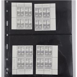 Canada Plate Block Stamps Uncut - 4 Blocks Proof Mint Stamp Proof Mint Stamp