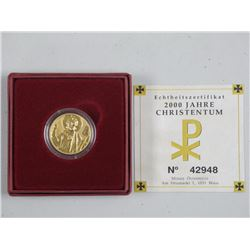 2000 JAHRE Proof Gold Coin with C.O.A. 22mm