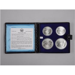 1976 Sterling Silver olympic 4pc Set