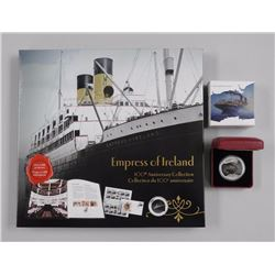 RCM - 2014 'Empress of Ireland' Lost Ships - .9999 Fine Silver $20.00 Coin and 100th Anniversary Col