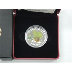 2016 - RCM .9999 Fine Silver Little Creatures 'Snail' High Tech Coin. Made with Venetian Glass