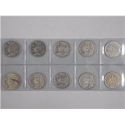 10x Canada Silver 50 Cents - Mix of Dates' (ATTN: 10 Times the bid price)