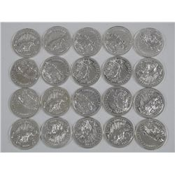 20x 1980 Canada Silver Dollars 'Arctic Territories'' (ATTN: 20 Times the bid price)