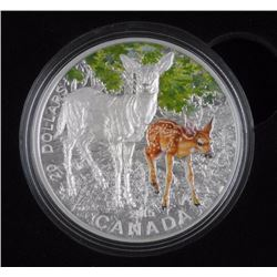 C.P. .9999 Fine Silver 2015 - White Tailed deer $20.00 Coin with C.O.A. LE 4000.