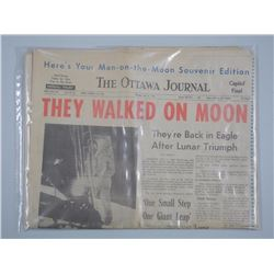 'Ottawa Journal' Original Monday, July 21 1969. Headlines - 'They Walked on The Moon' Original Paper