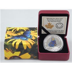 2014 - .9999 Fine Silver $20.00 Coin 'Red Spotted Butterfly' (SRR) LE with C.O.A.