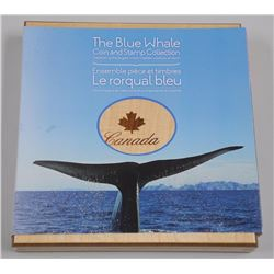 RCM - The blue Whale Coin and Stamp Collections. Wood Case