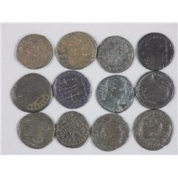 12 Ancient Roman Bronze Coins. Constantine I 'The Great' - 306-337 CE. (12 Times the Bid Price).