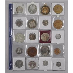 20x Estate - Numismatic Coins, Tokens etc Includes: Silver Issues, Russian 10 Roubles, World Silver,