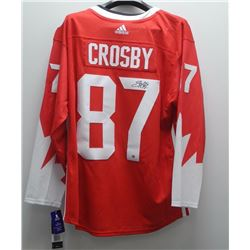 Sidney Crosby - Jersey Red World Cup 2016 Signed with C.O.A.