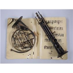 Metal - Musical Wall Frame 44x37x12. Sax and Trumpet