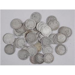 40x Canada Silver 10 Cent Coins. Mix of Monarchs and Dates (ATTN: 40 Times the bid price)