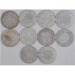 12x Silver King Edward 50 Cent Coin 'Mix of Years' (ATTN: 12 Times the bid price)
