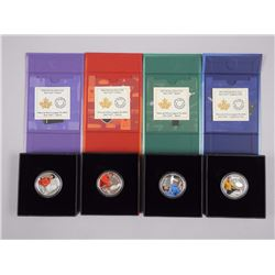 4x (pc) Set - RCM .9999 Fine Silver 'Star Trek' Coins 1st 4 Releases with C.O.A. (ATTN: 4 Times the