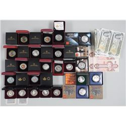 22x RCM - Coin issues, Lenticular Coins, Holiday Coins, Cased Dollars Proof Dollars, Silver Dollars