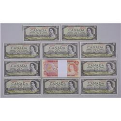 Lot Bank of Canada - Notes (100) Mixed Two Dollar and (10) 1954 Twenty Dollar Notes. $400.00 FACE.