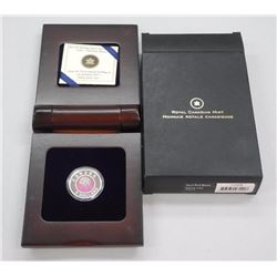 2012 - $5.00 Sterling Silver and Niobium Coin - Full Pink Moon. LE with C.O.A.