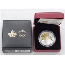 RCM - Jewel of the Rain 'Big Leaf Maple' .9999 Fine Silver 2016 - $20.00 Coin Limited Edition with C