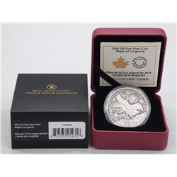 .9999 Fine Silver 'Maple of Longevity' High Tech Coin. Limited Edition with Cert.