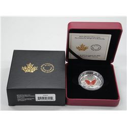 2016 - RCM .9999 Fine Silver 'Wings of a Butterfly' $20.00 LE with C.O.A. High Tech Coin (SEA)