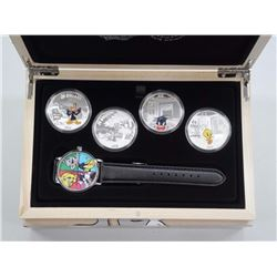 RCM and Warner Bros - Looney Tunes Collector Watch with Bullion Silver