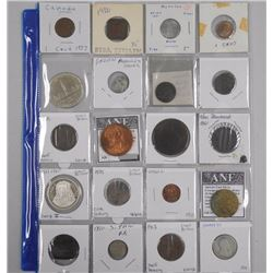 20x Estate Coins and Tokens, Includes 1939 Silver Dollar, Great Britain, Morocco, Canada etc (ATTN: