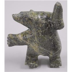 Original Stone Carving - by Janie Ragee 'Dancing Bear' 6x5x2 with C.O.A.