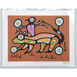 Christian Morrisseau (1969-) 'All of the Colours Collection 2016' 'Ojibway Boy and Otter' Serigraphi