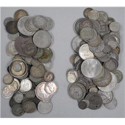 (1) Kilo of Silver Coins - Mix of Countries - Average .900 Silver.