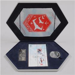 Snowbirds Stamp and Coin Set. .9999 Fine Silver Coin, Stamps, Sheets with Cert