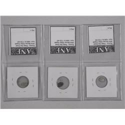 3x Russia - Peter the Great Wire Money (1689-1725 AD) (ATTN: 3 Times the bid price)