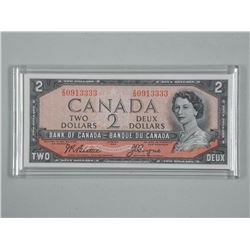 Bank of Canada 1954 Two Dollar Note. GEM UNC - with Case