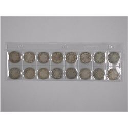 16x King George Silver 25 Cent Coins. Mixed 1900s (ATTN: 16 Times the bid price)