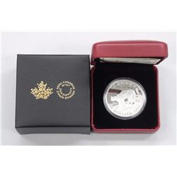 "Royal Canadian Mint .999 Fine Silver Collector $20.00 Coin ""Cougar Atop Mountain"" (Limited Edition w"