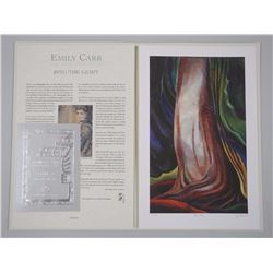 "Emily Carr (1871-1945) Giclee ""Tree Trunk"". Limited Edition with C.O.A. Approx. 12x18"" Unframed with"